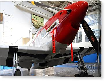 P-51b Mustang Replica Fighter Plane . 7d11157 Canvas Print by Wingsdomain Art and Photography