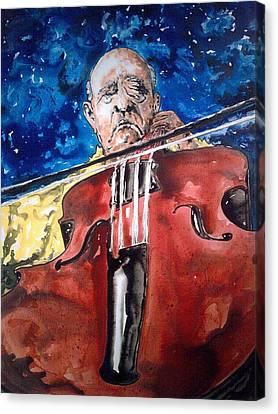Pablo Casals Canvas Print by Omar Javier Correa