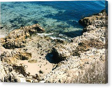 Canvas Print featuring the photograph Pacific Ocean At Monterey One by Louis Nugent