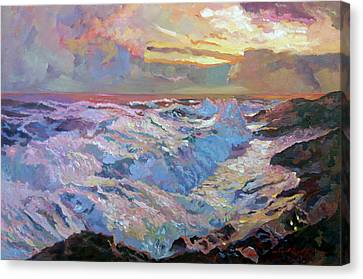 Pacific Ocean Blue Canvas Print by David Lloyd Glover