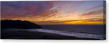 Pacific Sunset At Point Sur Canvas Print by Steven Wynn