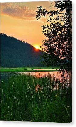 Pack River Delta Sunset 2 Canvas Print by Albert Seger