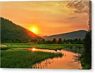 Pack River Delta Sunset Canvas Print by Albert Seger