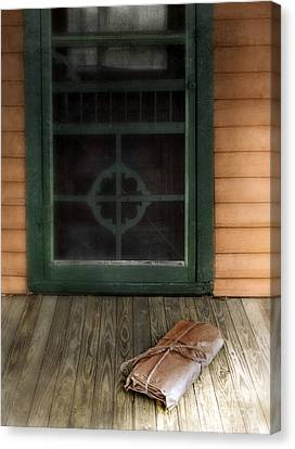Package On Front Porch Canvas Print
