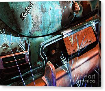 Packard On Ice Canvas Print