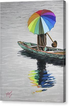 Paddling Downstream Canvas Print