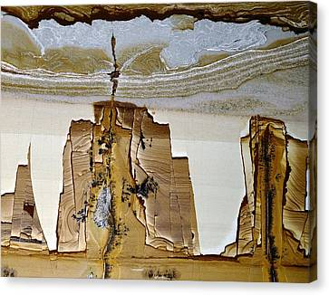 Paesina Stone Canvas Print by Dirk Wiersma