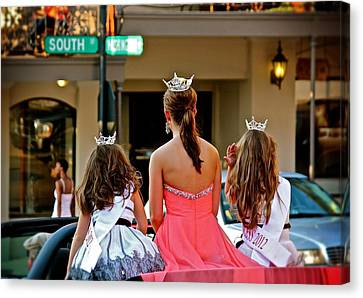 Canvas Print featuring the photograph Pageant South by Jim Albritton