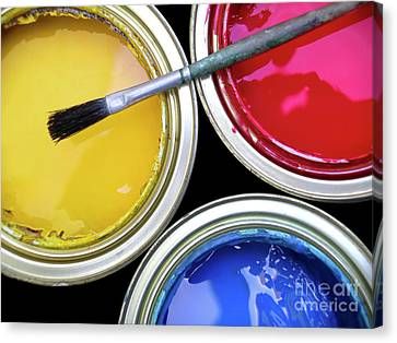 Rich Canvas Print - Paint Cans by Carlos Caetano