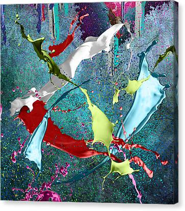 Paint Splashes Canvas Print by Svetlana Sewell
