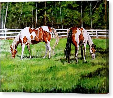 Paint The Fields Canvas Print by Crystal  Harris-Donnelly
