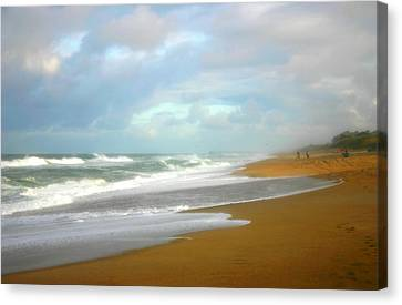 Painted Beach Canvas Print by Cindy Haggerty