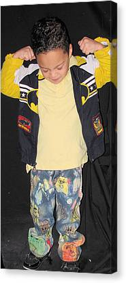 Painted Boys Jeans Canvas Print by HollyWood Creation By linda zanini