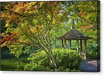 Painted Gardens Canvas Print by Joan Carroll