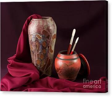 Painterly Pots Canvas Print