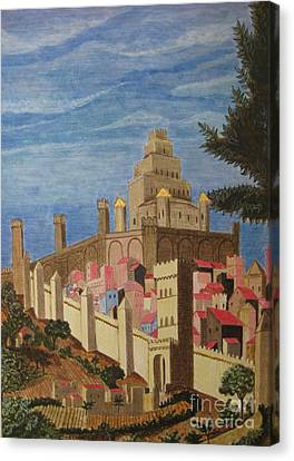 Painting   Medieval City Canvas Print by Judy Via-Wolff