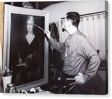 Painting A Portrait Canvas Print by Bill Joseph  Markowski
