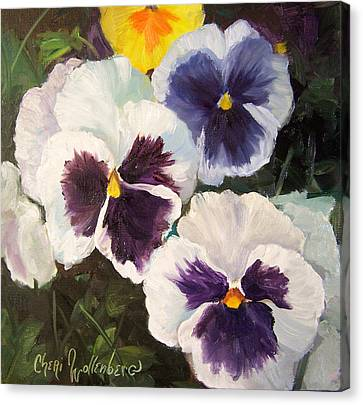 Painting Of Pansies Canvas Print