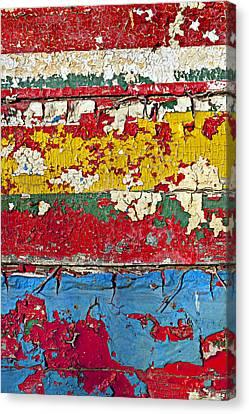 Painting Peeling Wall Canvas Print by Garry Gay