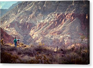 Painting Red Rock Canvas Print by Cody Boor