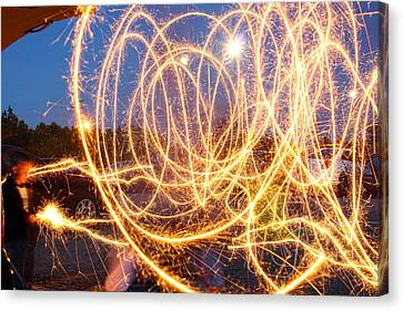 Painting With Sparklers Canvas Print by Gordon Dean II