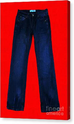 Pair Of Jeans 2 - Painterly Canvas Print by Wingsdomain Art and Photography