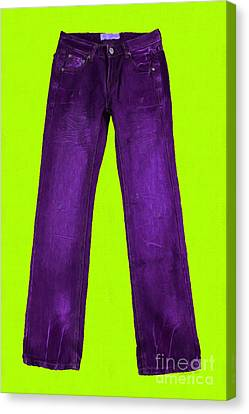 Pair Of Jeans 5 - Painterly Canvas Print by Wingsdomain Art and Photography