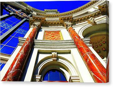Canvas Print featuring the photograph Palace Entrance IIi by Linda Edgecomb