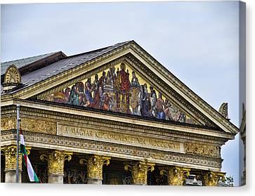 Palace Of Art - Heros Square - Budapest Canvas Print by Jon Berghoff