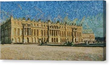 Chateau Canvas Print - Palace Of Versailles by Aaron Stokes