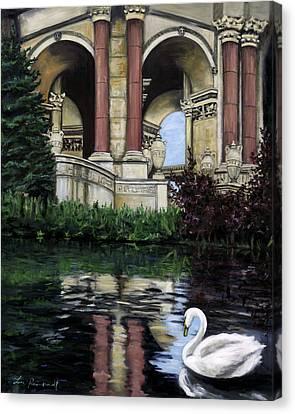 Palace Swan Canvas Print by Lisa Reinhardt