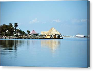 Palapa Over The Bayou Canvas Print by John Collins