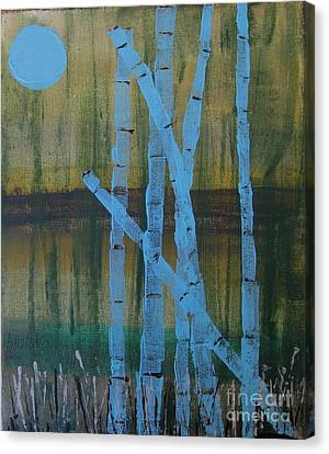 Pale Blue Moon Canvas Print