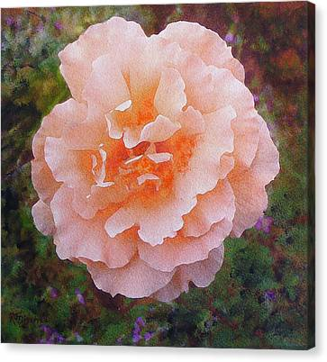 Canvas Print featuring the painting Pale Orange Begonia by Richard James Digance