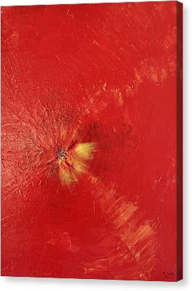 Palette Style Zoom  Red Poppe  Canvas Print by Pretchill Smith