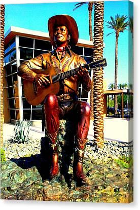 Palm Springs Gene Autry Statue Canvas Print
