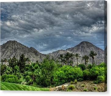 Desert Canvas Print - Palm Springs Hdr 013 by Lance Vaughn