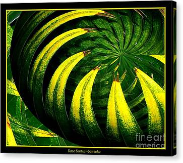 Palm Tree Abstract Canvas Print by Rose Santuci-Sofranko