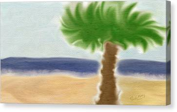 Palm Tree Canvas Print by Gina Lee Manley