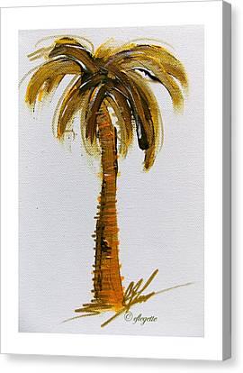 Palm Tree II Canvas Print by C F  Legette