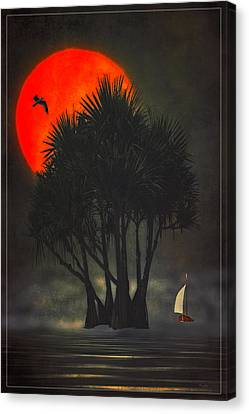 Palm Trees In The Sunset Canvas Print by Tom York Images