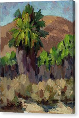 Palms At San Andreas Canvas Print by Diane McClary