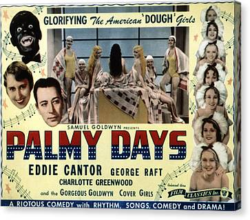 Palmy Days, Eddie Cantor, Charlotte Canvas Print by Everett