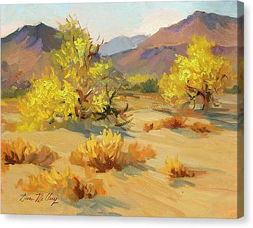 Palos Verdes Cove Canvas Print - Palo Verde In Bloom by Diane McClary