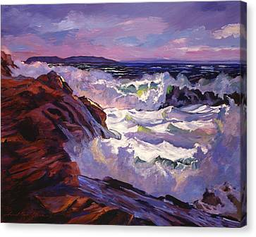 Storm Canvas Print - Palos Verdes Beach by David Lloyd Glover