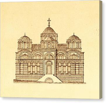Pammakaristos Byzantine Church In Constantinople  Canvas Print by Pictus Orbis Collection