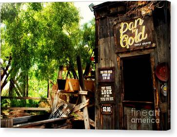 Pan For Gold In Old Tuscon Arizona Canvas Print by Susanne Van Hulst