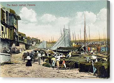 Panama City: Beach Market Canvas Print by Granger