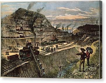 Panama: Culebra Cut, 1910 Canvas Print by Granger
