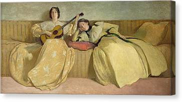 Panel For Music Room Canvas Print